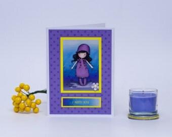 "Handmade card ""I Need You"""