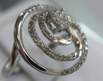 Twist Diamond Ring and Pendant Set