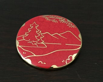 Unique Red & Gold Pin
