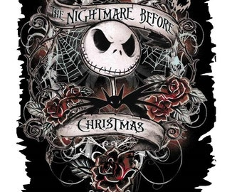 Nightmare before Christmas T shirt Iron on Transfer  8x10 5x6 3x4
