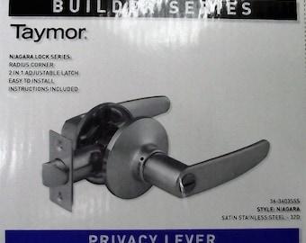 Taymor 36-3603SSS Privacy Lever Door Handle Satin Stainless Steel Builder Series