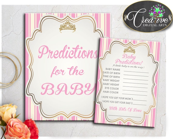 Baby Predictions Sign And Cards Activity Printable For – Desenhos