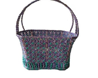 Woven Wicker And Metal Basket