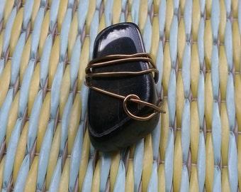 Black Onyx Gemstone Pendant