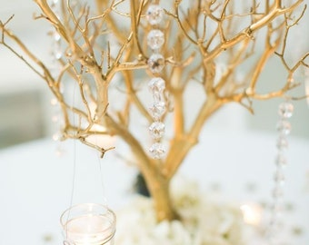 "6 20"" gold manzanita branches 100% natural fresh trimmed for DIY wedding centerpieces"