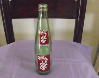 Dr. Pepper, Green, ACL, Soda Bottle 1970s