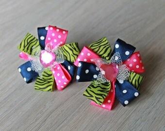 Pinwheel Hair Tie, Back to school hair accessories, Ponytail, hair accessories, toddler hair ties, girls hairaccessories, girls hair ties