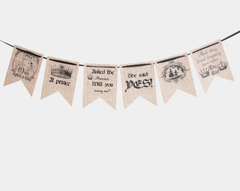 Once upon a time burlap banner  Burlap Banner  Wedding banner  Wedding bunting