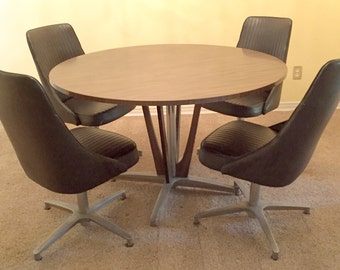 Mid-Century Chromcraft Dinette Dining Table and Chair