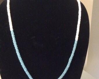 Beaded Kumihimo necklace set.