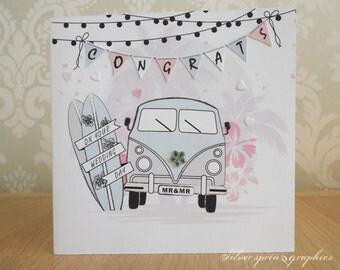 Camper Van Wedding Card