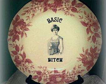 Custom stoneware plate, not so basic