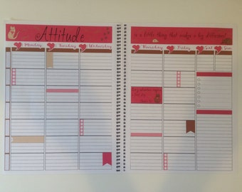 Kitty Cat Weekly Kit for Plum Paper PPP Large Teacher Planner