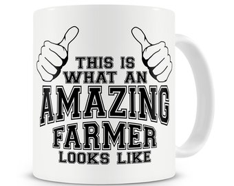This Is What An Amazing Farmer Looks Like Mug Farming Tractor Driver Farmer Gift