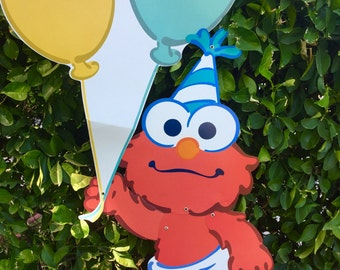 Elmo Party Decor Etsy