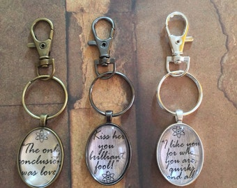 Shamy Quote Keychain (choose your quote)