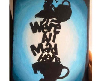 Alice In Wonderland Silhouette Painting
