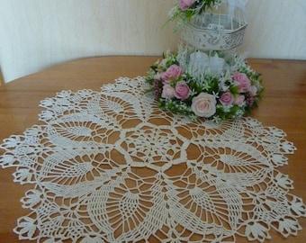 crochet doily,floral doily,lace doily,crochet napkin,beautiful crochet,large crochet table cloth,pineapple,table centerpiece,crochet doilies