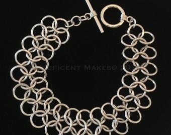 Chainmaille Cuff Bracelet - (Item B 005)
