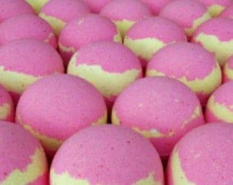 JUMBO 8 Oz. Lemon Berry Bath Bombs! (Bigger and Better than Lush!) Great Spa Gift! Handmade Bath Fizzies.