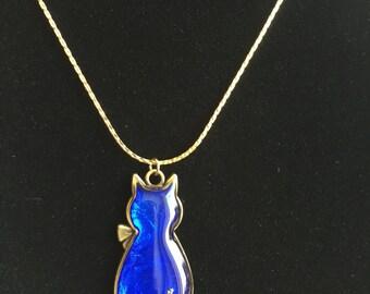 Blue Cat Necklace