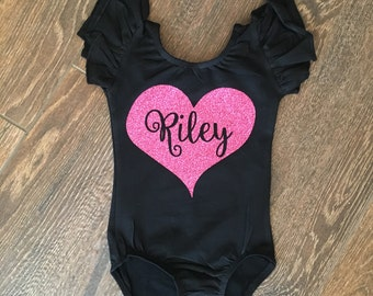 Personalized leotard - custom leotard - dance leotard - child leotard - toddler leotard - girls gift birthday outfit - gymnastics leotard