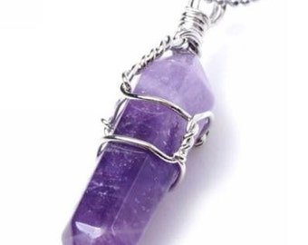 20% OFF SALE!!! Purple Amethyst Boho Necklace
