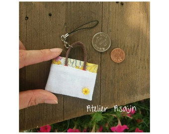 Handmade miniature bag with removable strap