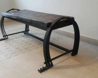 Custom Made Wrought Iron Bench