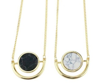 accessoryCOCO - Geo  Semicircle Moon Nacklace