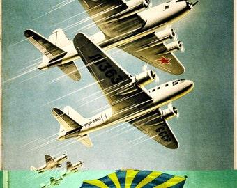Vintage Russian Propaganda Poster Glory Mighty Soviet Union Retro USSR Art Print A3 A4