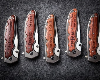 FREE BOX WEEK Engraved Knife Father of The Groom gift groomsmen gifts ideas father of the bride gift groomsman gift groom gift from bride p5