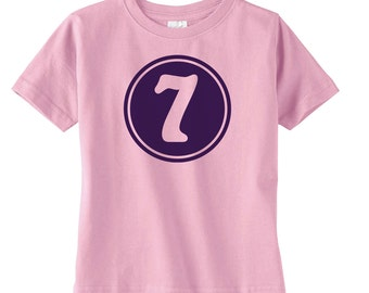 Preppy Girls Seventh Birthday Shirt - Girls Birthday Gift - Girls 7th Birthday - Cute Girls Birthday Shirt - Birthday Party Tshirt
