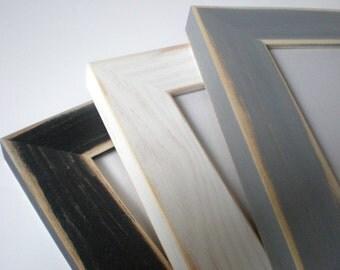 "Poster frame 13x19"" photo frame distressed frame rustic frame 33x48cm frame nursery frame shabby chic  woodworking chicframeshop"
