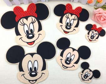 Cute Disney Patch Mickey And Minnie Mouse Patch Iron On Sew On Patch