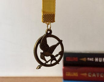 Hunger Games -  Mockingjay Inspired Ribbon Bookmark