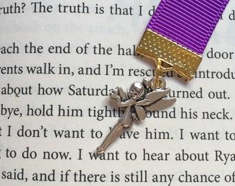 Peter Pan bookmark || Tinkerbell Bookmark || Neverland Bookmark || Ribbon Bookmark || Purple Bookmark || Disney Bookmark