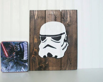 Star Wars Inspired Stormtrooper Wooden Wall Decor