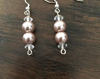 AS IS: Pearl and Crystal Earrings