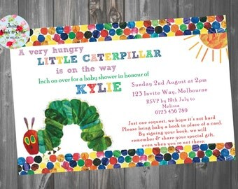 Baby Shower Invitation The Very Hungry Little Caterpillar