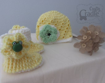 Baby Hat and Bootie bundle