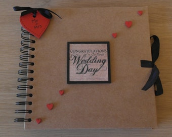 Handmade Personalised Wedding Day Scrapbook / Photo Album / Gift. Size Large 12 x 12""