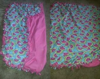 Fleece watermelon blanket