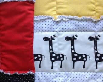 Baby Quilt PATTERN -  Crib Size Quilt - Rag Quilt Tutorial - Nursery - PDF Digital Download