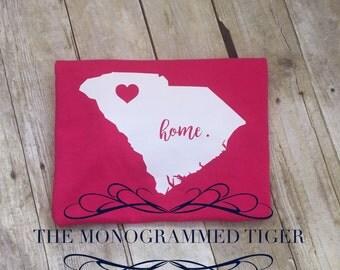 South Caroline Home State Pink Tank Top