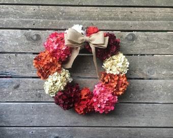 Fall Wreath, Front Door Decoration, Fall Wreathes, Door Wreath, Fall Decor, Autumn Wreath, Fall Wreaths, Hydrangea Wreath, Outdoor Wreath