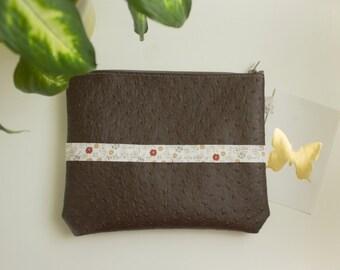 Pocket faux ostrich liberty cotton Ribbon