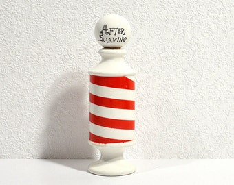 Vintage After Shave Bottle- Barber Pole