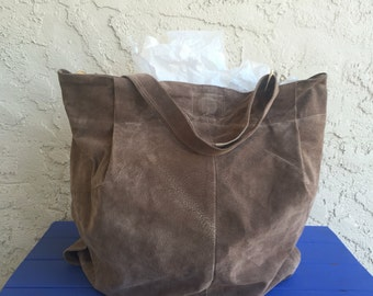 Taupe 3 Pocket Magnetic Closure Hobo