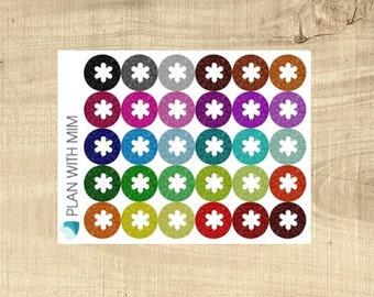 Erin Condren 30 Multi-coloured Glitter Look Asterisk Icons